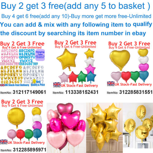 "18/"" Heart Star Round Shape Float Helium Foil Balloons For Party Birthday Wedding"