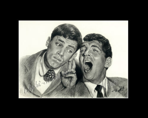 Dean Martin /& Jerry Lewis drawing  /& Al Capone  image picture poster
