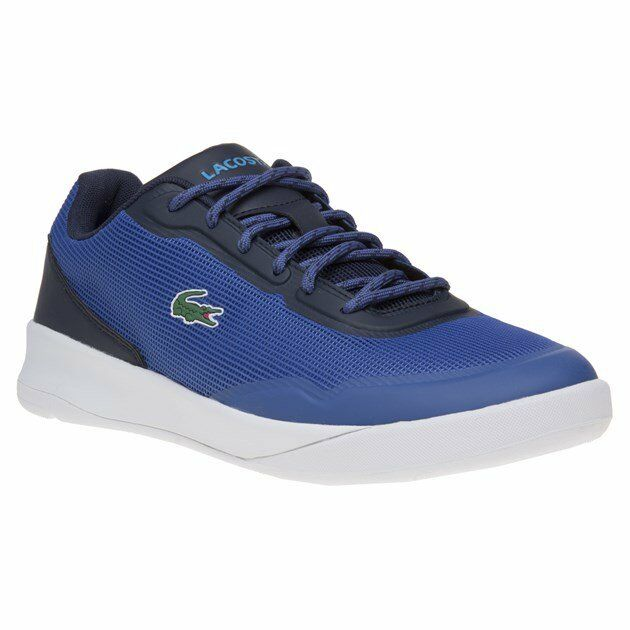 New Mens Lacoste bluee Lt Spirit 217 Nylon Trainers Court shoes Lace Up
