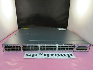 Cisco-WS-C3750X-48P-L-48-Port-PoE-GigE-Lanbase-Switch-C3KX-NM-1G-715WAC-15-0-iOS