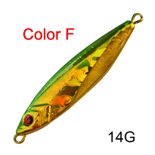 Minnow 14g 21g 30g Jig Metal Slice Angeln Lures Lead Casting Spinning Baits