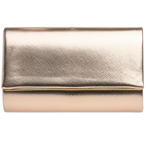CASPAR TA361 elegante Damen Glanz Briefumschlag Clutch Tasche Abendtasche