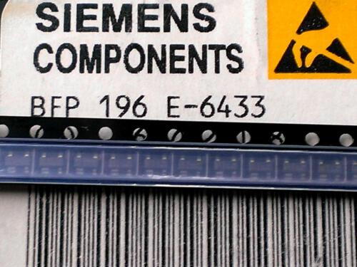 5 Stück BFP196 SIEMENS Wideband NPN RF Transistor 0,7W fT7,5GHz SOT143 M1518