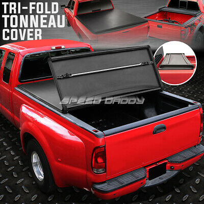 FOR 99-16 FORD SUPER DUTY 6.5/' TRI-FOLD ADJUSTABLE SOFT TOP TRUNK TONNEAU COVER