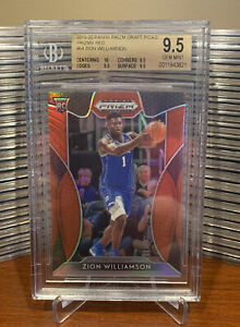 ZION-WILLIAMSON-2019-PANINI-PRIZM-DP-64-RED-PRIZM-REFRACTOR-ROOKIE-RC-BGS-9-5