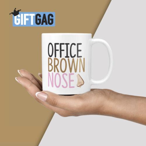 Drôle de Père Noël Secret Cadeau pour collègue de travail actuel bureau marron nez Mug