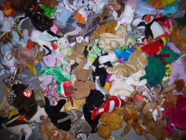 TY Beanie Babies the BULK assorted LOT mix 50 cat dog bear free shipping
