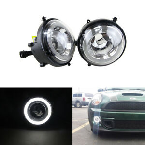 Details About For Mini Cooper R55 R56 R57 R58 R61 Led Daytime Running Drl Halo Rings Lamp Kit