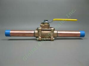 1-034-High-Purity-Copper-Bronze-3pc-Apollo-Male-Ball-Valve-Cleaned-For-O2-Service