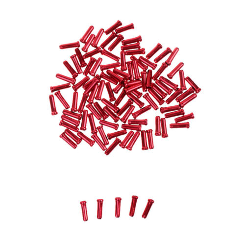 100pcs Alloy Bicycle Brake Shifter Inner Cable Tip Wire End Cap Crimps Red