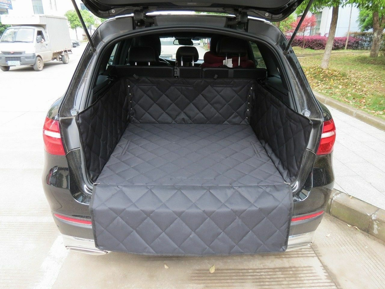 Quilted Rear Pet Dog Boot Liner Lip Predector For Range Rover Evoque 3DR 2011 On