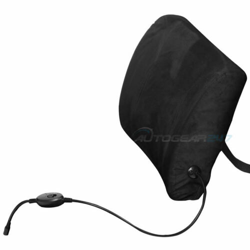 12v Car Van Seat Hi-Low Heated Memory Foam Lumbar Lower Back Support Cushion.F01