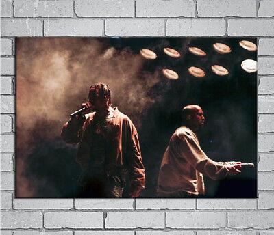 E868 Art Kanye West Travis Scott The Life Of Pablo Rap Hip Hop 18 24x36in Poster