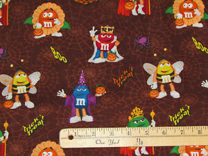 Christmas Cotton Fabric With M/&M/'S® M /& M /'s ® Characters Holiday Fabric YARD
