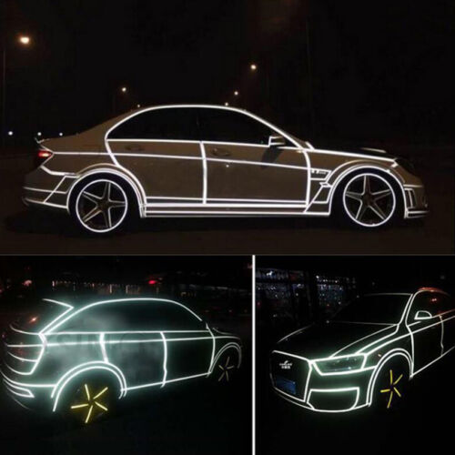 5M x 2CM Reflective Sticker Tape Car Truck Body Stripe DIY Self Adhesive Decal