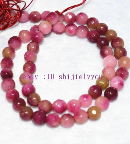"""New Natural 6mm Faceted Multicolor Kunzite Gemstone loose Beads 15/"""""""