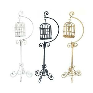 1-12-Mini-Dollhouse-Metal-Bird-Cage-Model-With-Holder-Miniature-Furniture-Gift