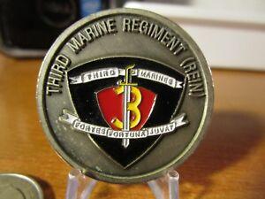 USMC-Marine-Corps-Third-Marine-Regiment-REIN-Commander-039-s-Challenge-Coin-3376