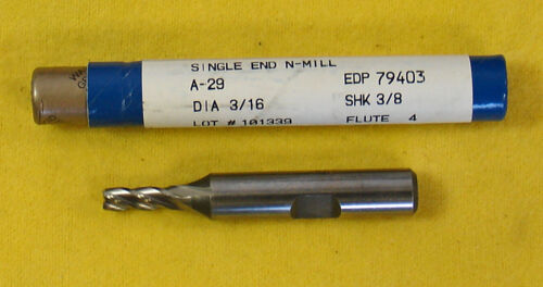 "Fastcut 3//16/"" 4 Flute SE HSS Endmill  End Mill #79403 A-29  A29 Made in USA"