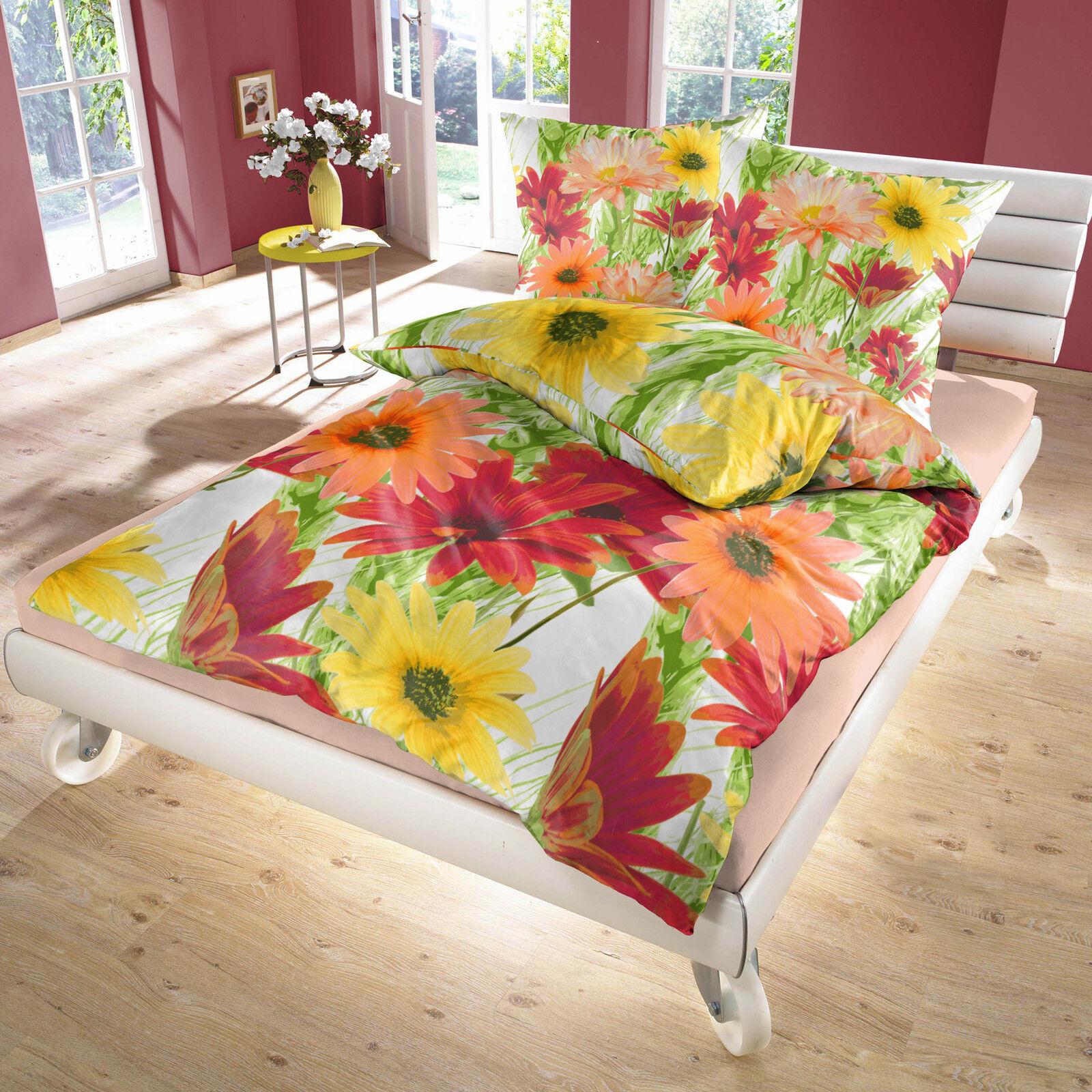 Lianne (Gerberas) - SoulBedroom 100% Cotton Bed Set (Duvet Cover & Pillow Cases)