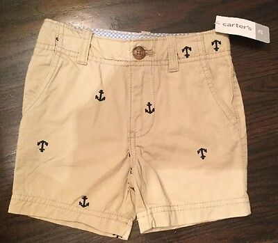 Carters Baby Boys Flat-Front Shorts Navy 24M