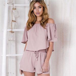 Summer Women Chiffon Short Sleeve Blouse Shirt Tops+Short Pant Set ... 23044d111