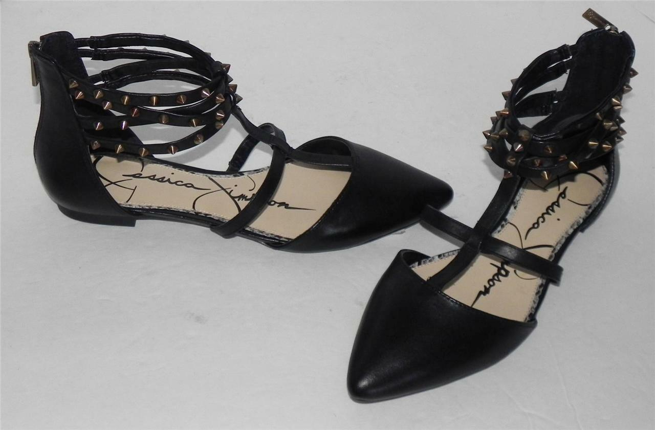 Jessica Simpson Noway Black Studded Gladiator Sandals 6