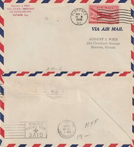 US-1948-AM-6-FIRST-FLIGHT-FLOWN-COVER-FLORENCE-SC-TO-RICHMOND-VIRGINIA