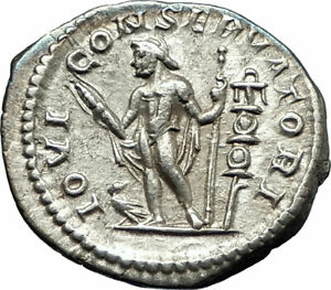 ELAGABALUS-219AD-Rome-Ancient-Silver-Roman-Coin-Nude-Jupiter-Zeus-i76521