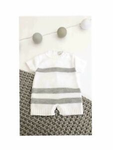 Boat Set Traditional Spanish Style Baby Boys Grey Knitted Romper Outfit