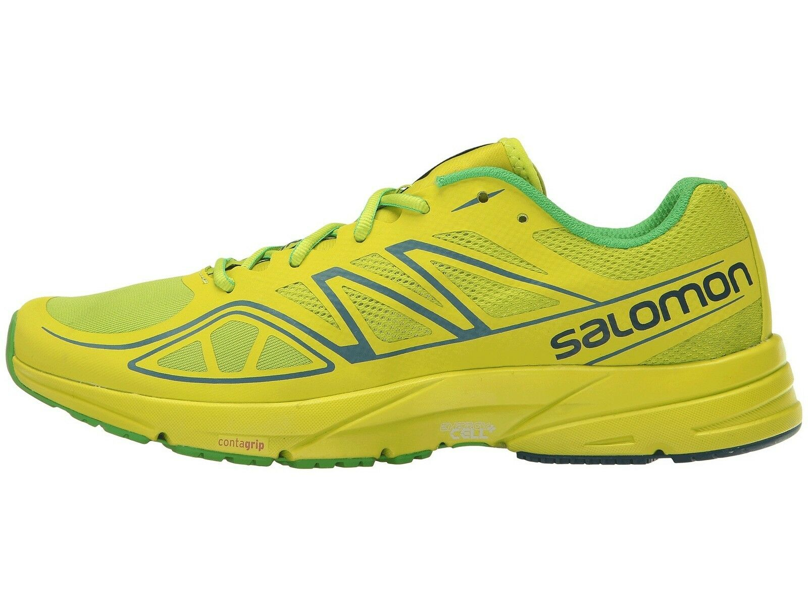 Salomon Sonic Aero señores mentecato runningschuh (Lime-verde) -  nuevo
