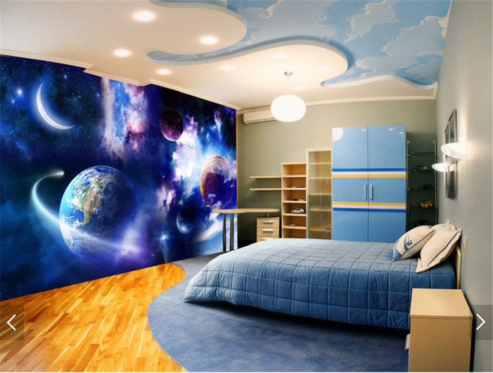 Solemn Meteorolite 3D Floor Mural Photo Flooring Wallpaper Home Print Decoration