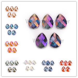 24mm-Hot-Faceted-Colorized-Glass-Crystal-Bead-Teardrop-Loose-Spacer-Beads