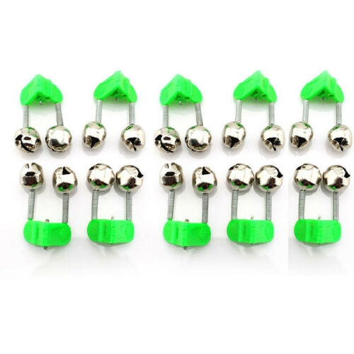 30Pc Fishing Bite Alarms Fishing Rod Stalk Bells Clamp Tip ABS Fishing Accessory