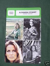 ALEXANDRA STEWART  - MOVIE STAR - FILM TRADE CARD - FRENCH-#1
