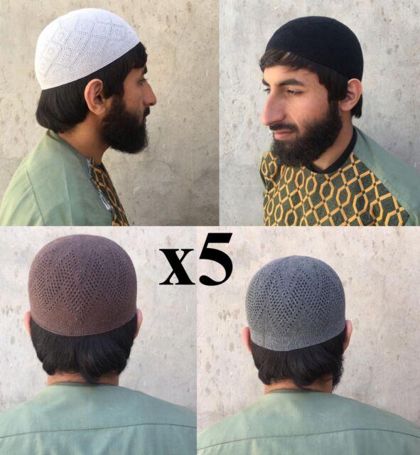 Men/'s Muslim Koofi Cap Hats Men Prayer Islam Egyptian Kufi Topi Accessories New