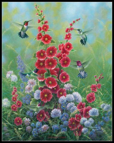 Hummingbirds DIY Chart Counted Cross Stitch Patterns Needlework BWA24030001