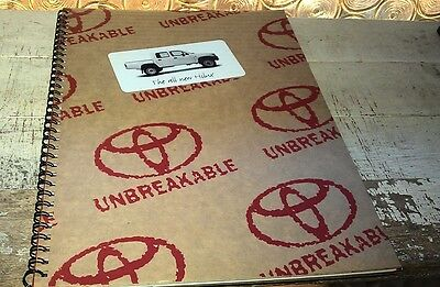 1997 TOYOTA HILUX  Australian  Sales Brochure - Cardboard Covers Unusual !