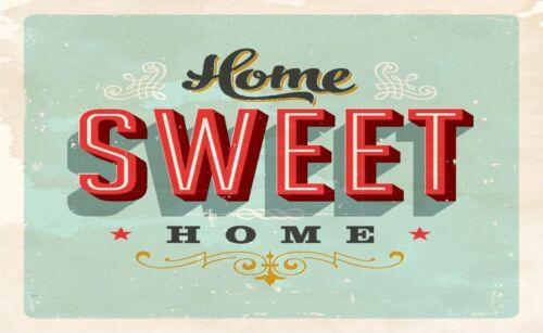 Home Sweet Home Schild Spaß Tür Schild Aufkleber Grafik Vinyl Label