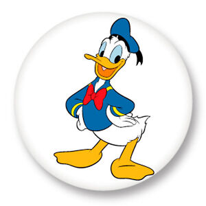 Pin Button Badge Ø25mm 1 Donald Duck Walt Disney Dessin Animé Verzamelingen Speldjes