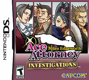 Ace Attorney Investigations: Miles Edgewort Nintendo DS 3DS game cartridge only 1