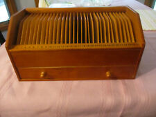 Nice Wooden Desk Letter Bill Organizer With Drawer 125 X 6 Inches