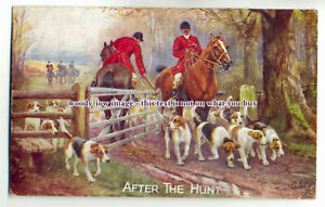 an0593-Fox-Hunting-034-After-the-Hunt-034-Artist-N-Drummond-Postcard-Tuck-039-s