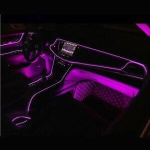 Purpura-coche-LED-el-alambre-ambiente-interior-Tira-de-Luz-Lampara-De-Neon-Brillo-Decoracion
