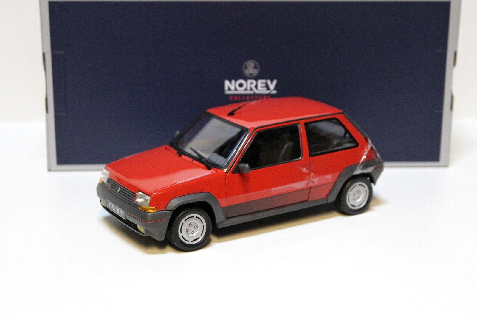 Des chaussures personnalisées vous  ent de la personnalité 1:18 Norev Renault Supercinq GT Turbo 1989-Red New chez Premium-modelcars   Outlet Online