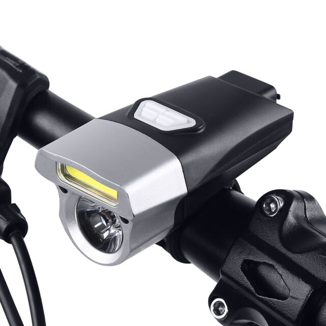 COB T6 LED Front Bicycle Bike USB Rechargeable HeadLight Torch Headlight Lamp DE