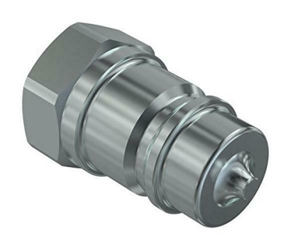 """1//4/"""" x... Poppet Style Male Faster Coupling NV 14-38SAE M Agricultural Steel"""