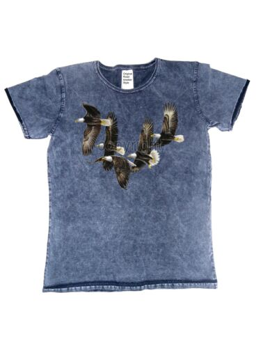 T Shirt im Vintagestyle Batik  AdlerTier-/& Naturmotiv Modell Five Eagles