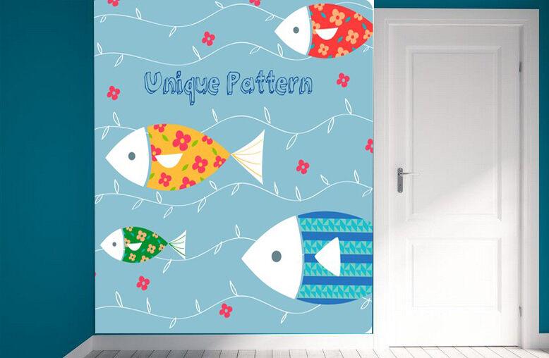 3D Simple fresh fish 344WallPaper Murals Wall Print Decal Wall Deco AJ WALLPAPER