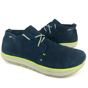 altra blue suede casual sport chukka boots ankle shoes men